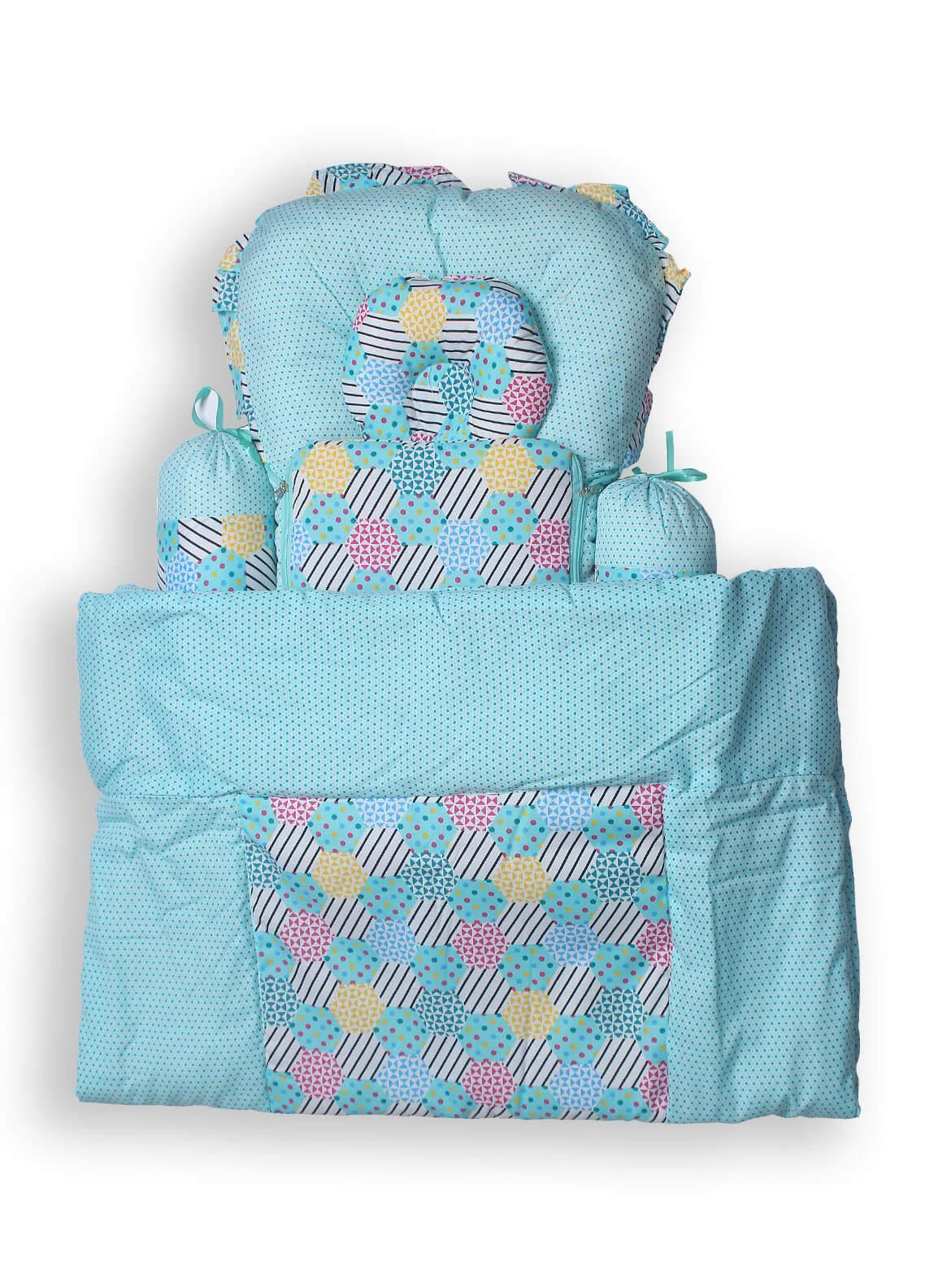 Plush Mink  Fiber Baby Set 7 Pieces PEEKABOO 7 PIECES BABY SET Light Blue - Baby Products