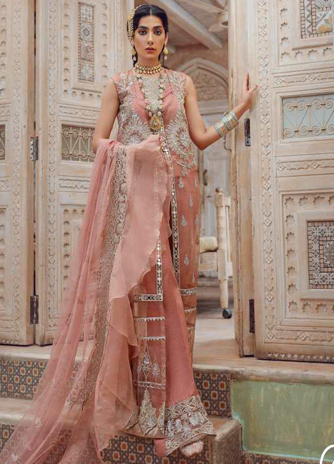 Kinaar by Shiza Hassan Embroidered Organza Unstitched 3 Piece Suit SH20KF 03 Aabroo - Festive Collection