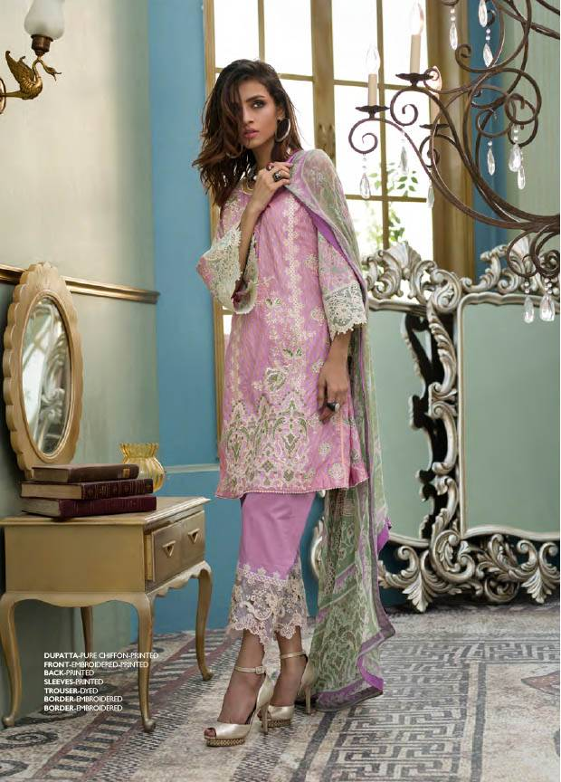 Komal By LSM Embroidered Lawn Unstitched 3 Piece Suit KM17E KE4044B