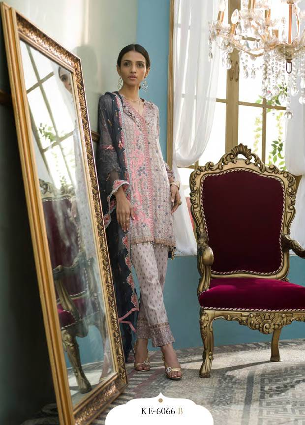 Komal By LSM Embroidered Lawn Unstitched 3 Piece Suit KM17E KE6066B