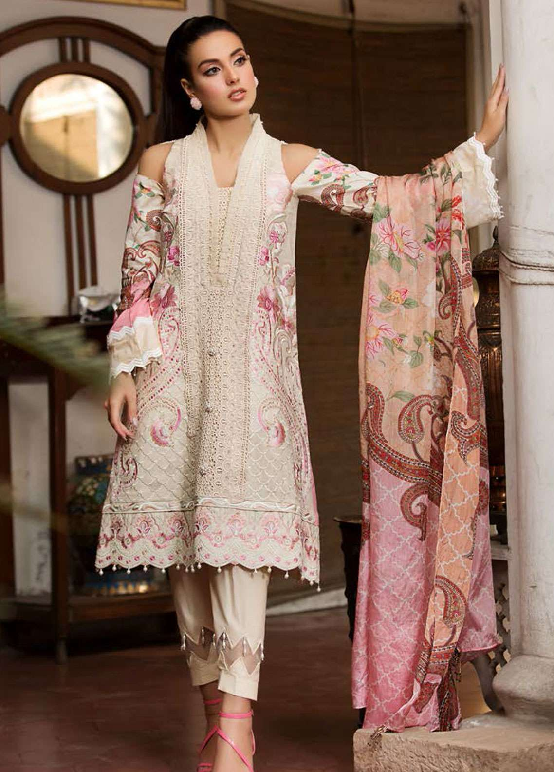 1fddbbdcc0 Kross Kulture Embroidered Lawn Unstitched 3 Piece Suit KK19L 03 BEQUEST -  Spring / Summer Collection