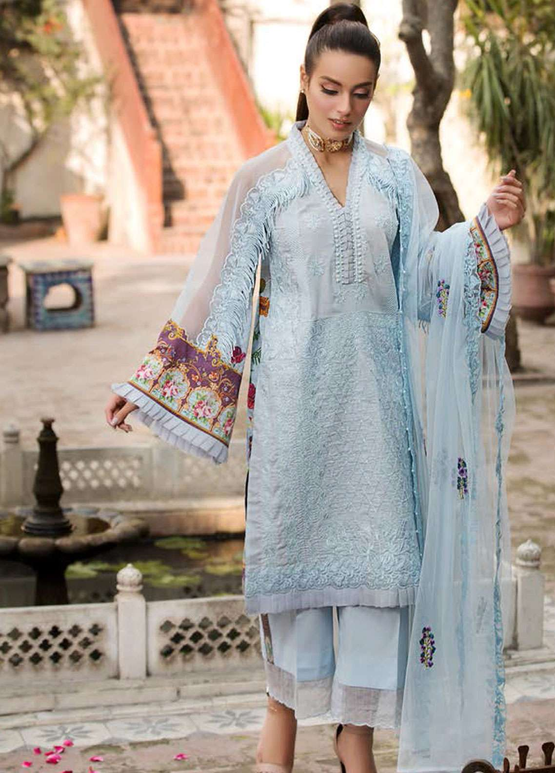 Kross Kulture Embroidered Lawn Unstitched 3 Piece Suit KK19L 04 MULBERRY - Spring / Summer Collection