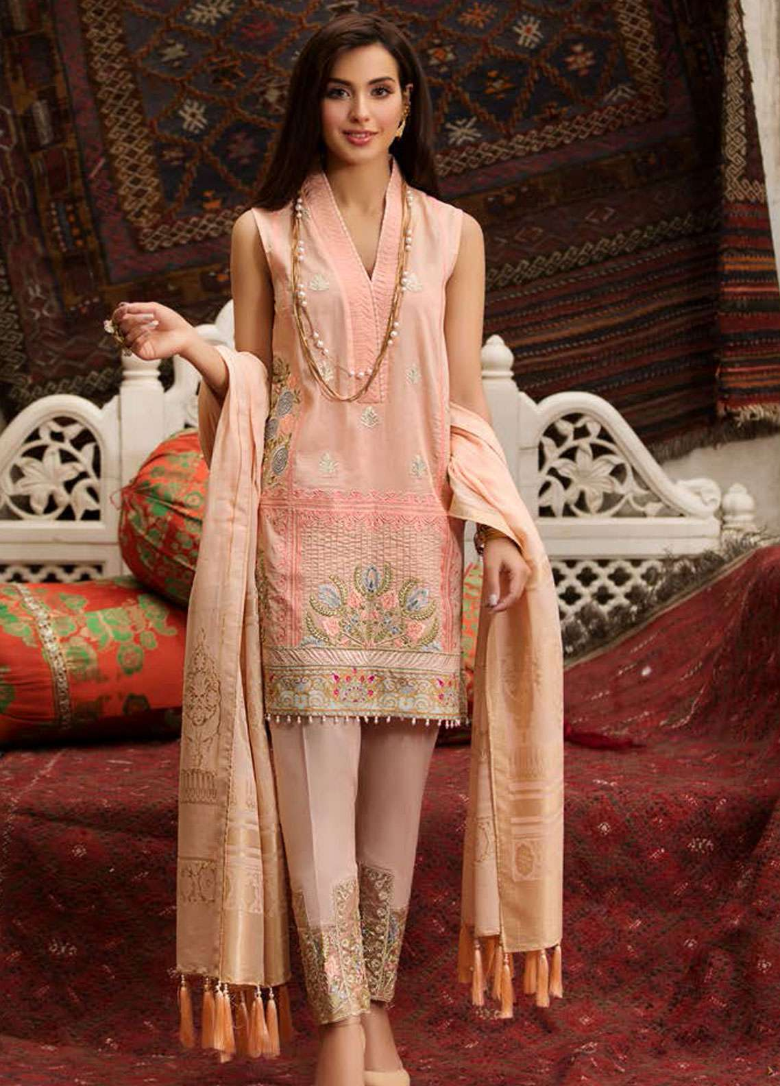 Kross Kulture Embroidered Lawn Unstitched 3 Piece Suit KK19L 09 ARCHAIC - Spring / Summer Collection