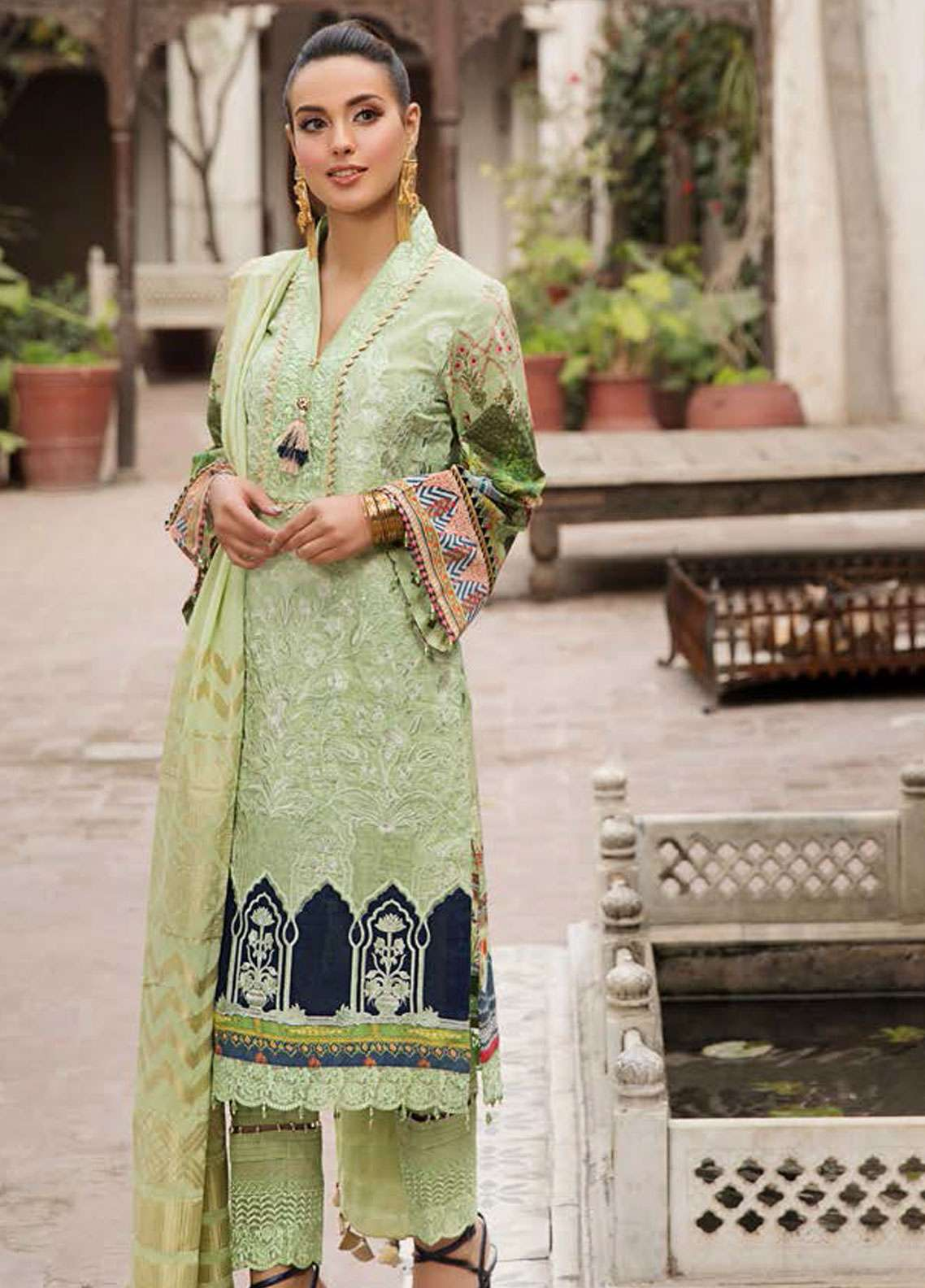 Kross Kulture Embroidered Lawn Unstitched 3 Piece Suit KK19L 10 PERSIAN FABLE - Spring / Summer Collection