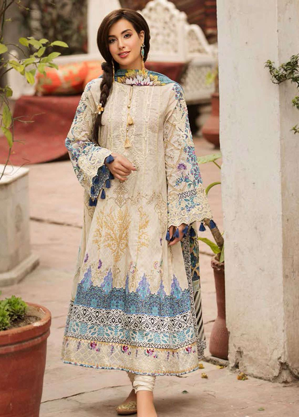 Kross Kulture Embroidered Lawn Unstitched 3 Piece Suit KK19L 11 RUMI - Spring / Summer Collection