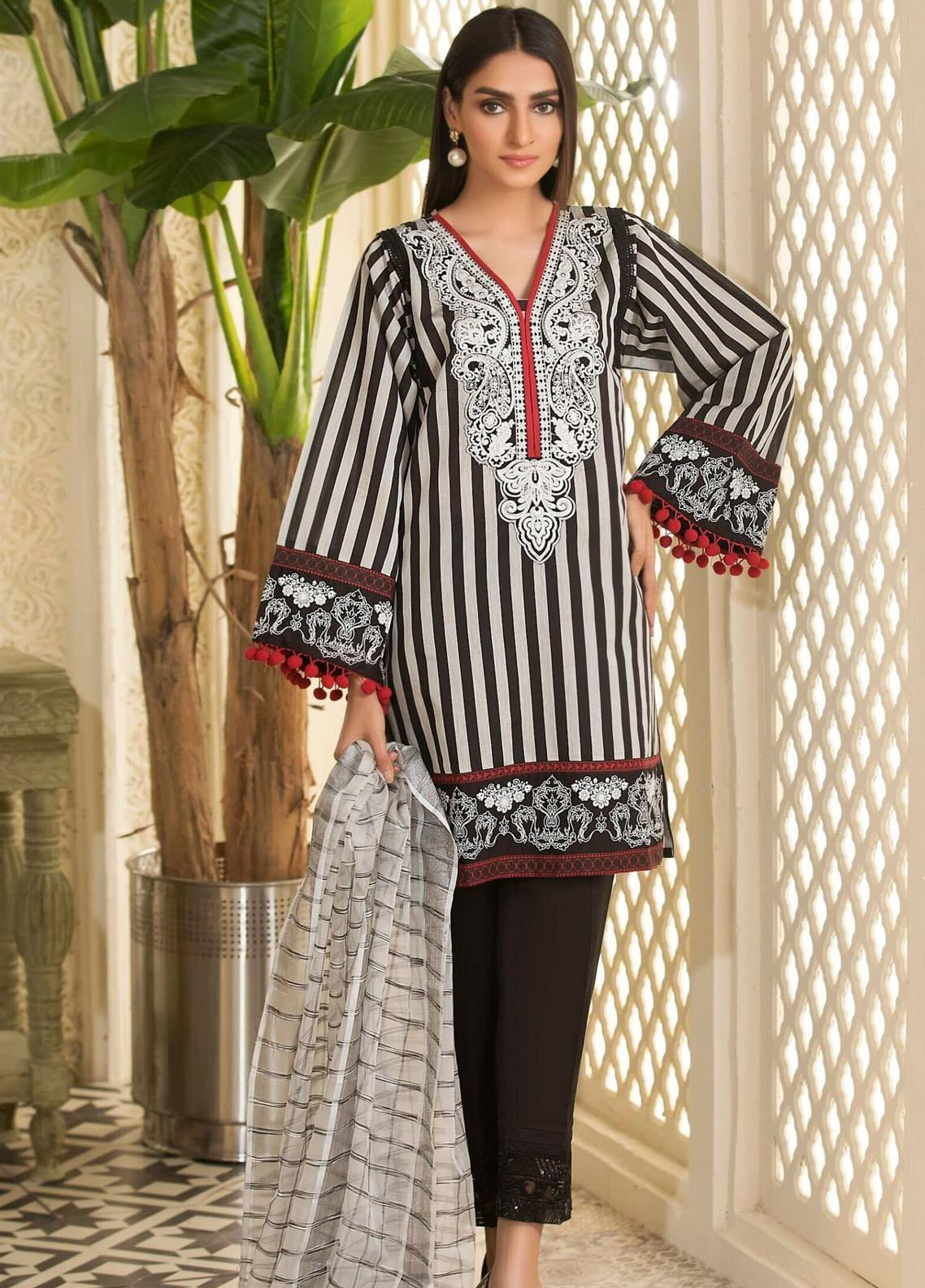 Kross Kulture Embroidered Woven Stitched 2 Piece Suit KE-20697 Black-Grey
