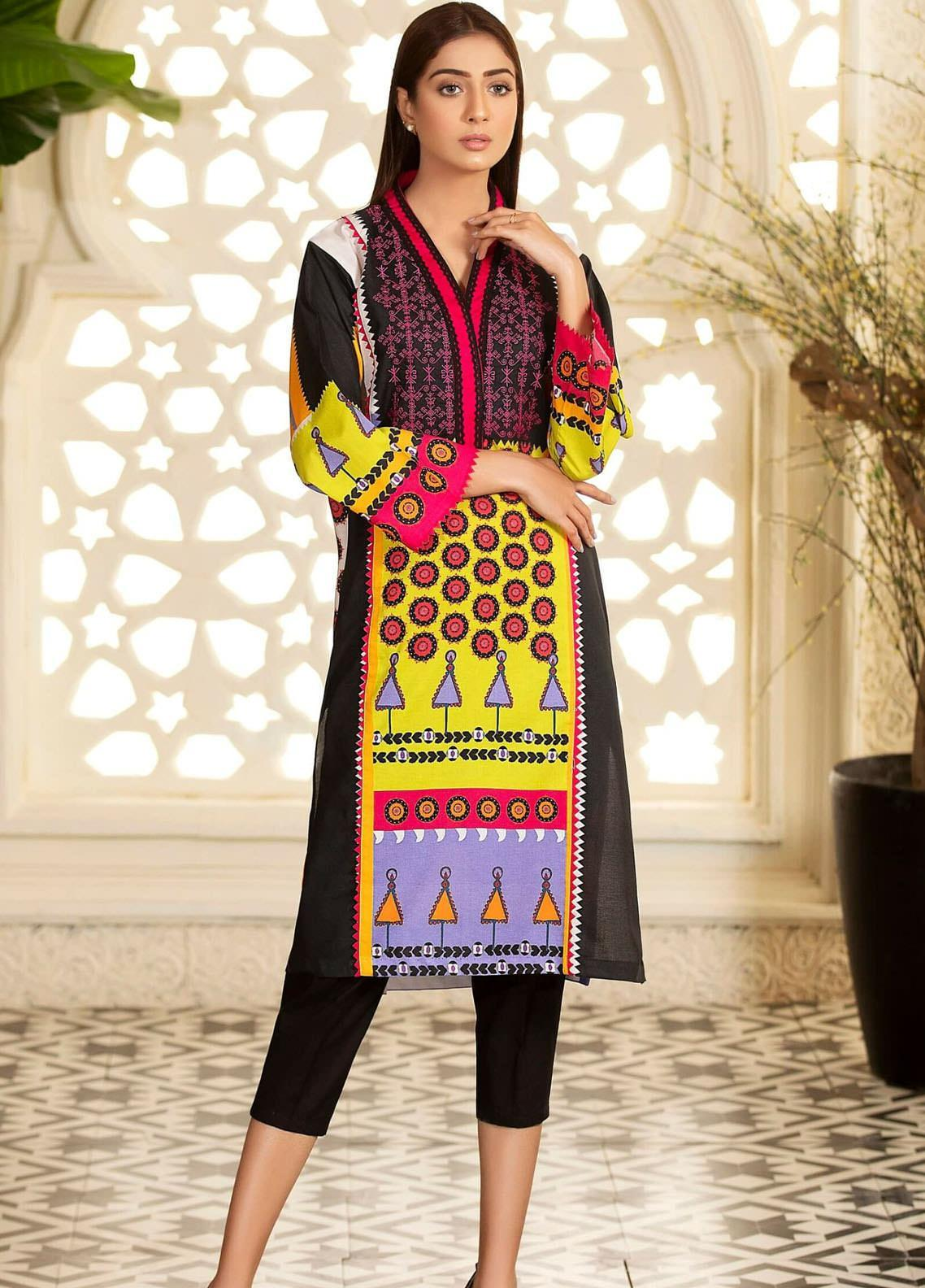 Kross Kulture Embroidered Cambric Stitched Kurtis KPR-20624
