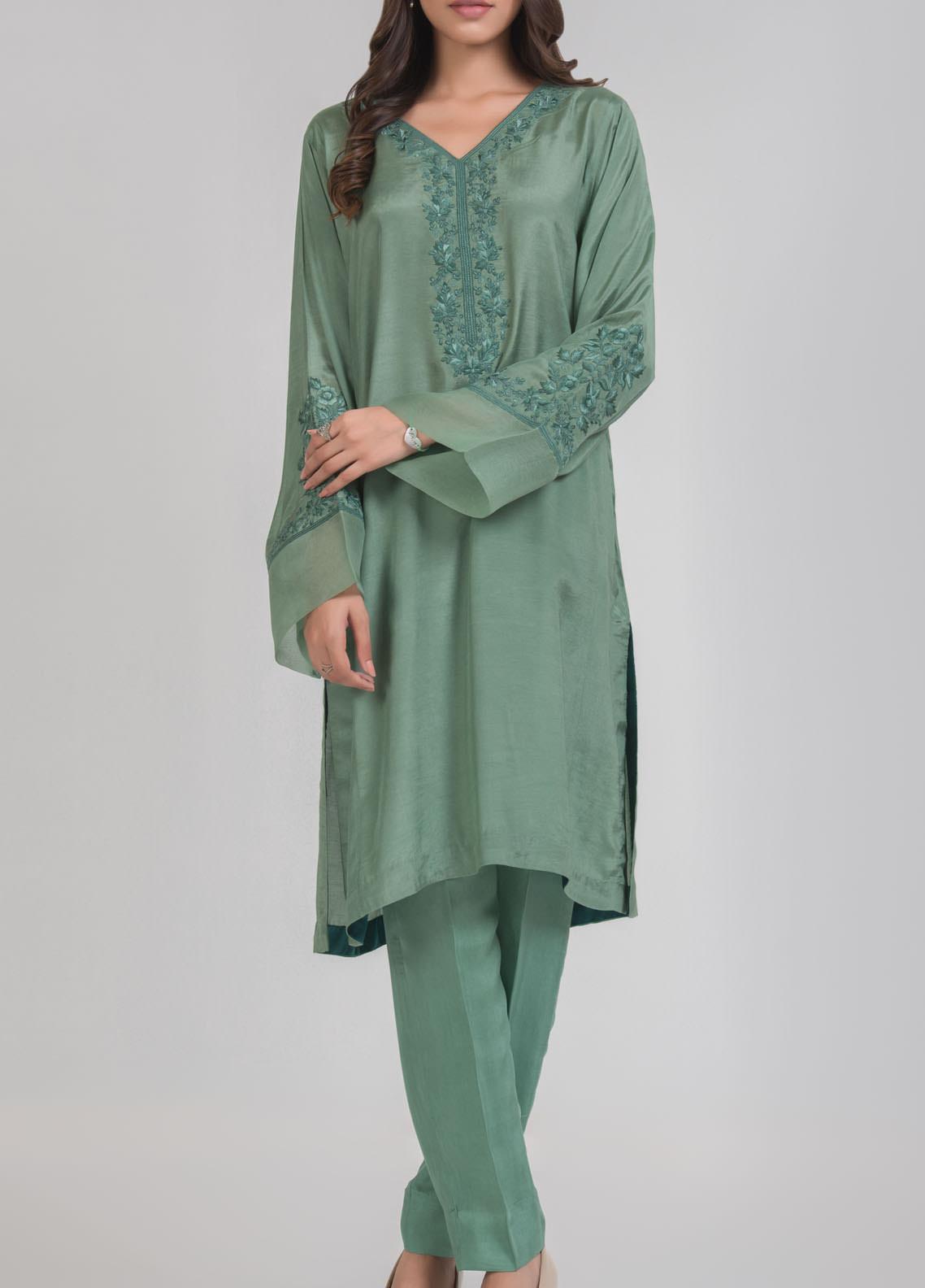 Kuli Jume Embroidered Silk Stitched 2 Piece Suit ishq-e-Aqeedah