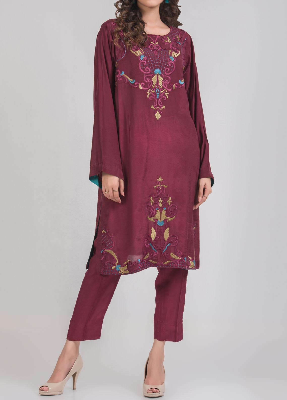 Kuli Jume Embroidered Silk Stitched 2 Piece Suit Ishq-e-Sakhi