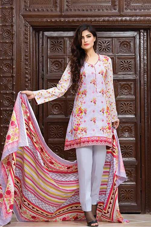 Kalyan By ZS Embroidered Lawn Unstitched 3 Piece Suit KY17E2 11A