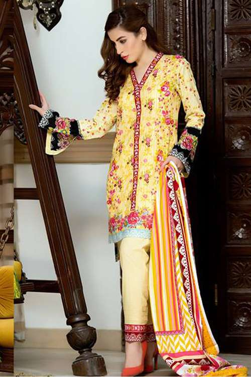 Kalyan By ZS Embroidered Lawn Unstitched 3 Piece Suit KY17E2 11B