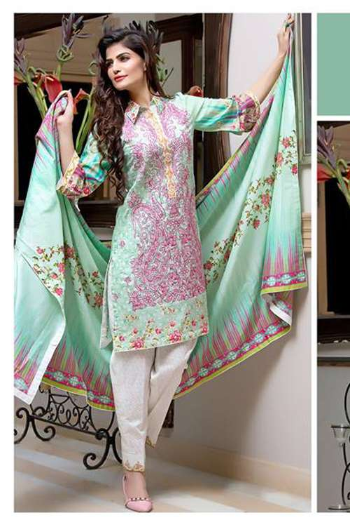 Kalyan By ZS Embroidered Lawn Unstitched 3 Piece Suit KY17E2 12B