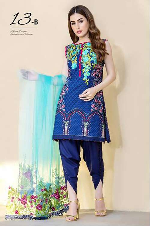 Kalyan By ZS Embroidered Lawn Unstitched 3 Piece Suit KY17E2 13B