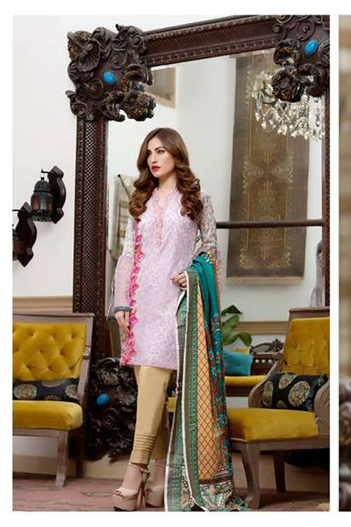 Kalyan By ZS Embroidered Lawn Unstitched 3 Piece Suit KY17E2 1B