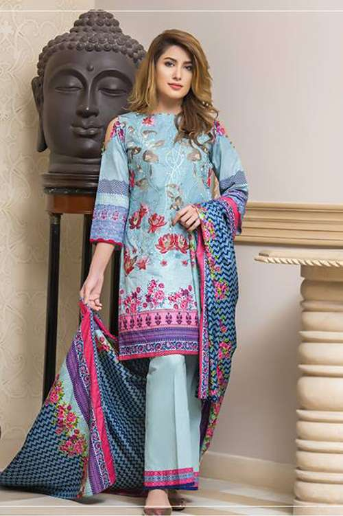 Kalyan By ZS Embroidered Lawn Unstitched 3 Piece Suit KY17E2 2A