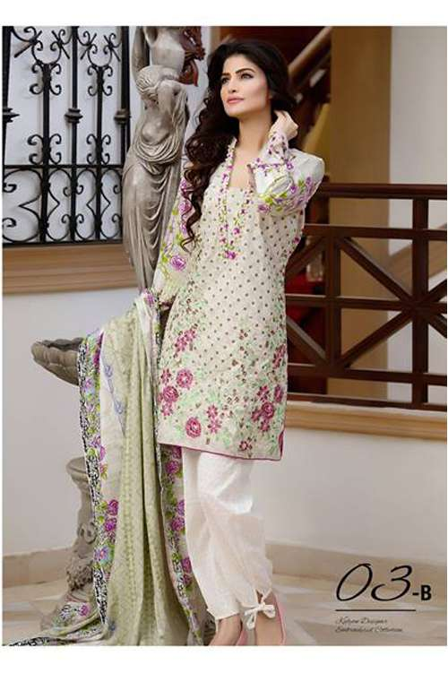 Kalyan By ZS Embroidered Lawn Unstitched 3 Piece Suit KY17E2 3B