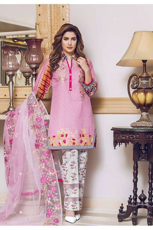 Kalyan By ZS Embroidered Lawn Unstitched 3 Piece Suit KY17E2 4A