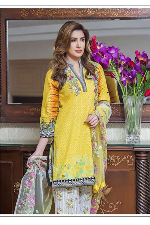 Kalyan By ZS Embroidered Lawn Unstitched 3 Piece Suit KY17E2 4B