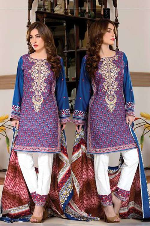 Kalyan By ZS Embroidered Lawn Unstitched 3 Piece Suit KY17E2 5B