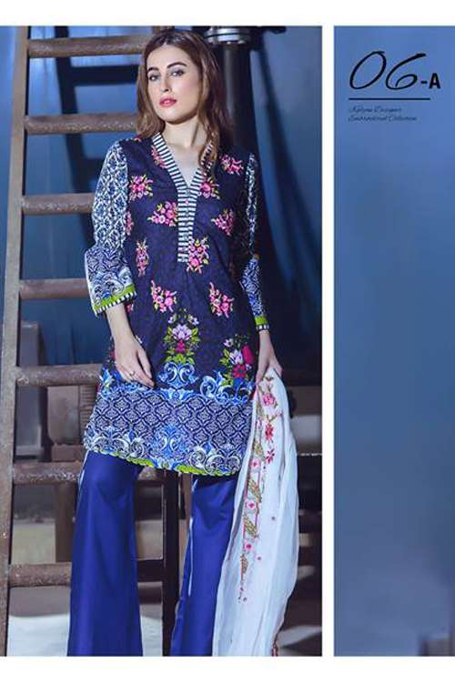 Kalyan By ZS Embroidered Lawn Unstitched 3 Piece Suit KY17E2 6A