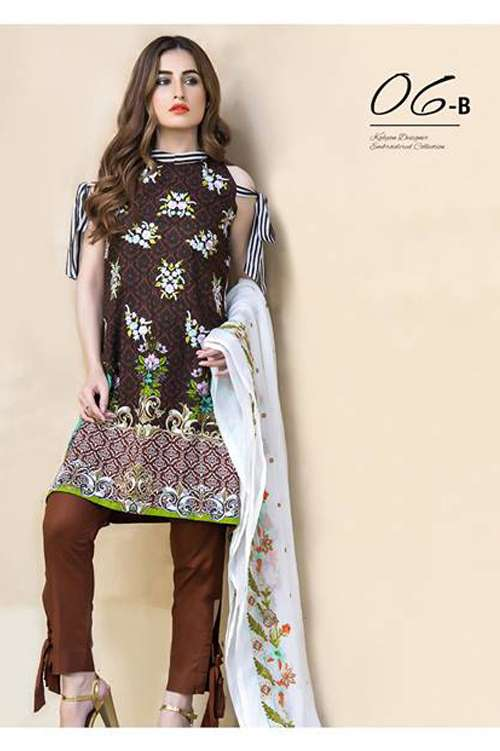 Kalyan By ZS Embroidered Lawn Unstitched 3 Piece Suit KY17E2 6B