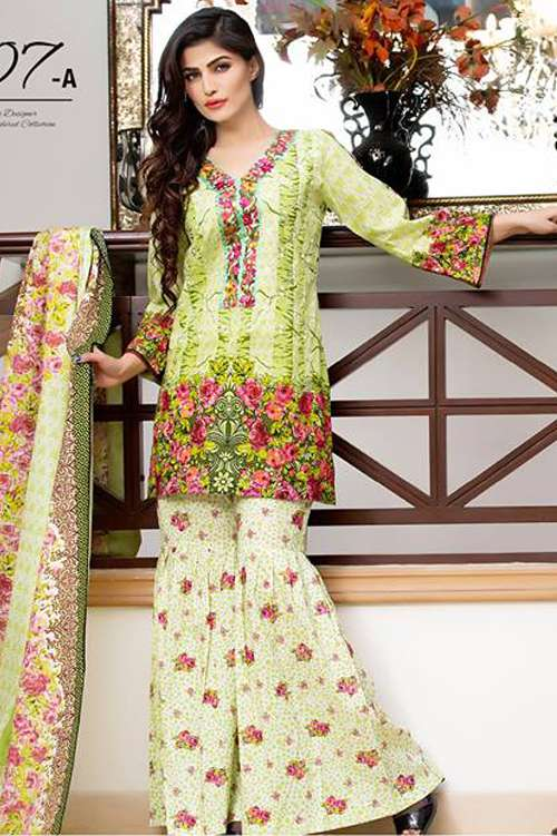 Kalyan By ZS Embroidered Lawn Unstitched 3 Piece Suit KY17E2 7A