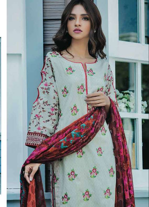 d104e829e6 Kalyan By ZS Embroidered Lawn Unstitched 3 Piece Suit KY18L 1B - Spring /  Summer Collection
