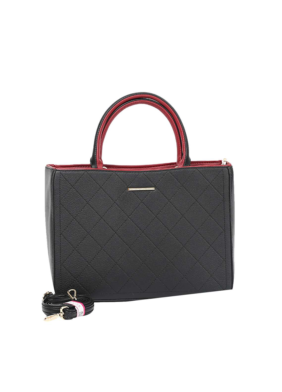 Susen PU Leather Satchels Bag for Women - Black with