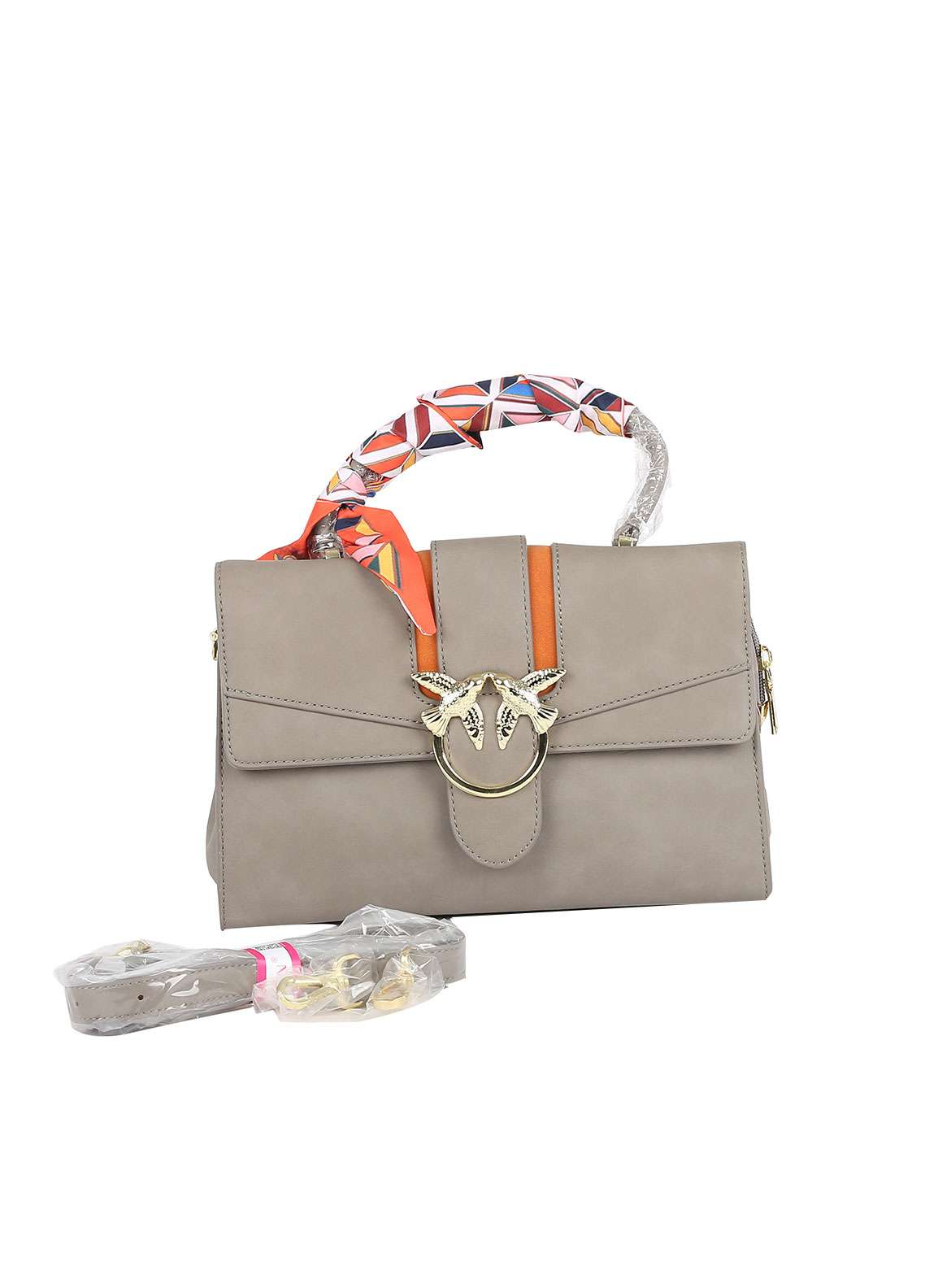 Susen PU Leather Satchels Bag for Women - Fawn with