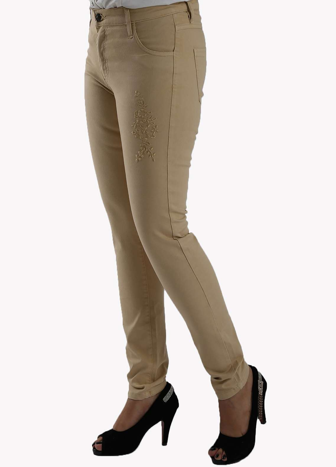 Bien Habille Ladies Jeans Skinny Fit Khaaki