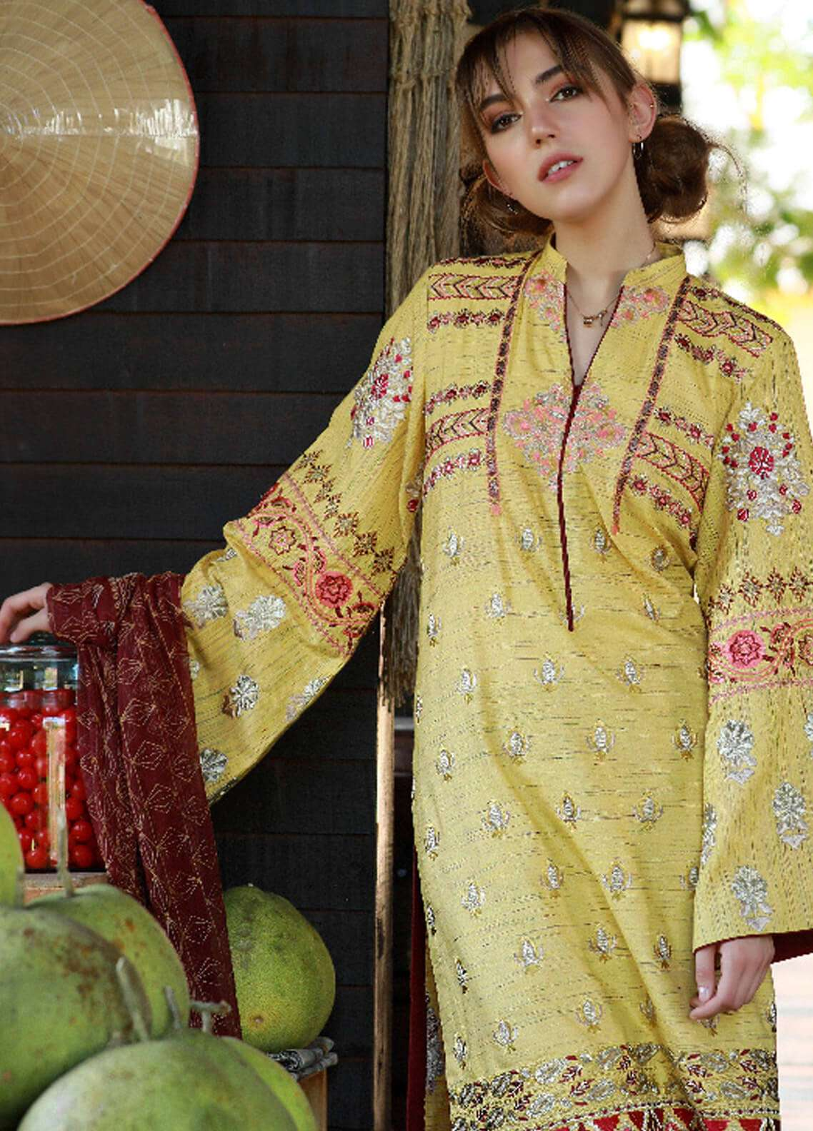 Lakhany Embroidered Woven Yarn Unstitched 3 Piece Suit LSM19S 05 - Winter Collection