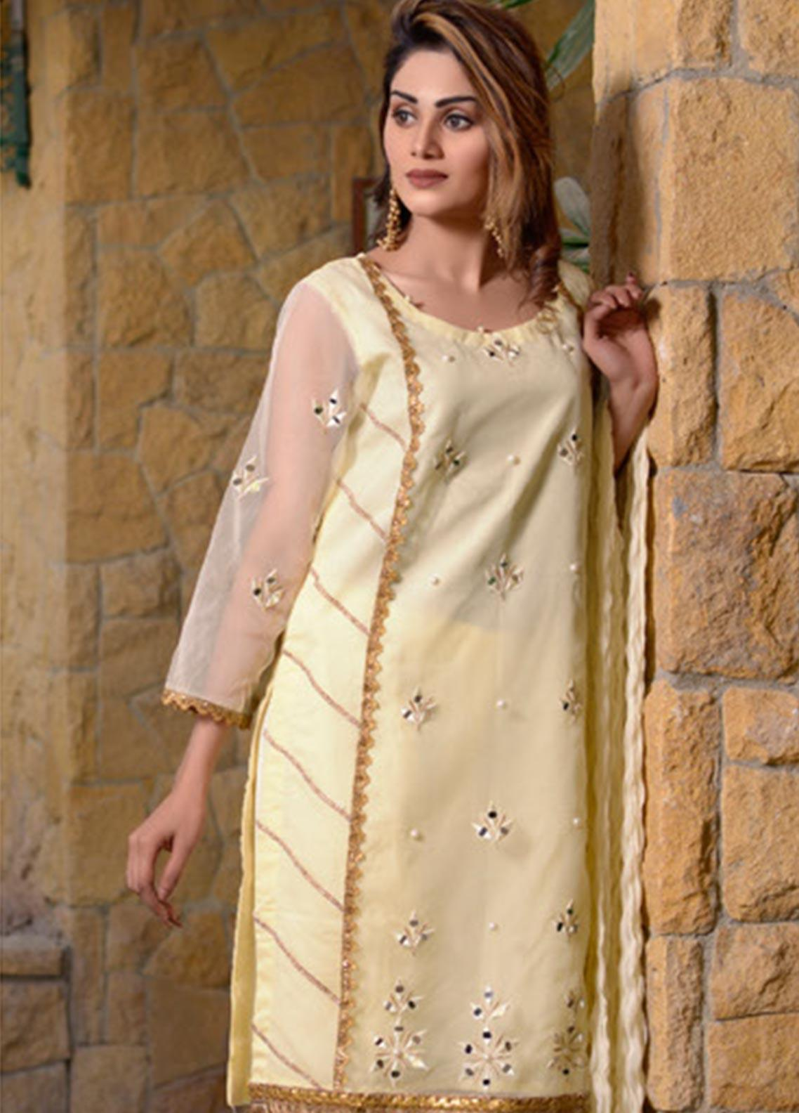 Layla Luxe by Elaheh Embroidered Organza Unstitched 3 Piece Suit ELH20LY 07 - Luxury Collection