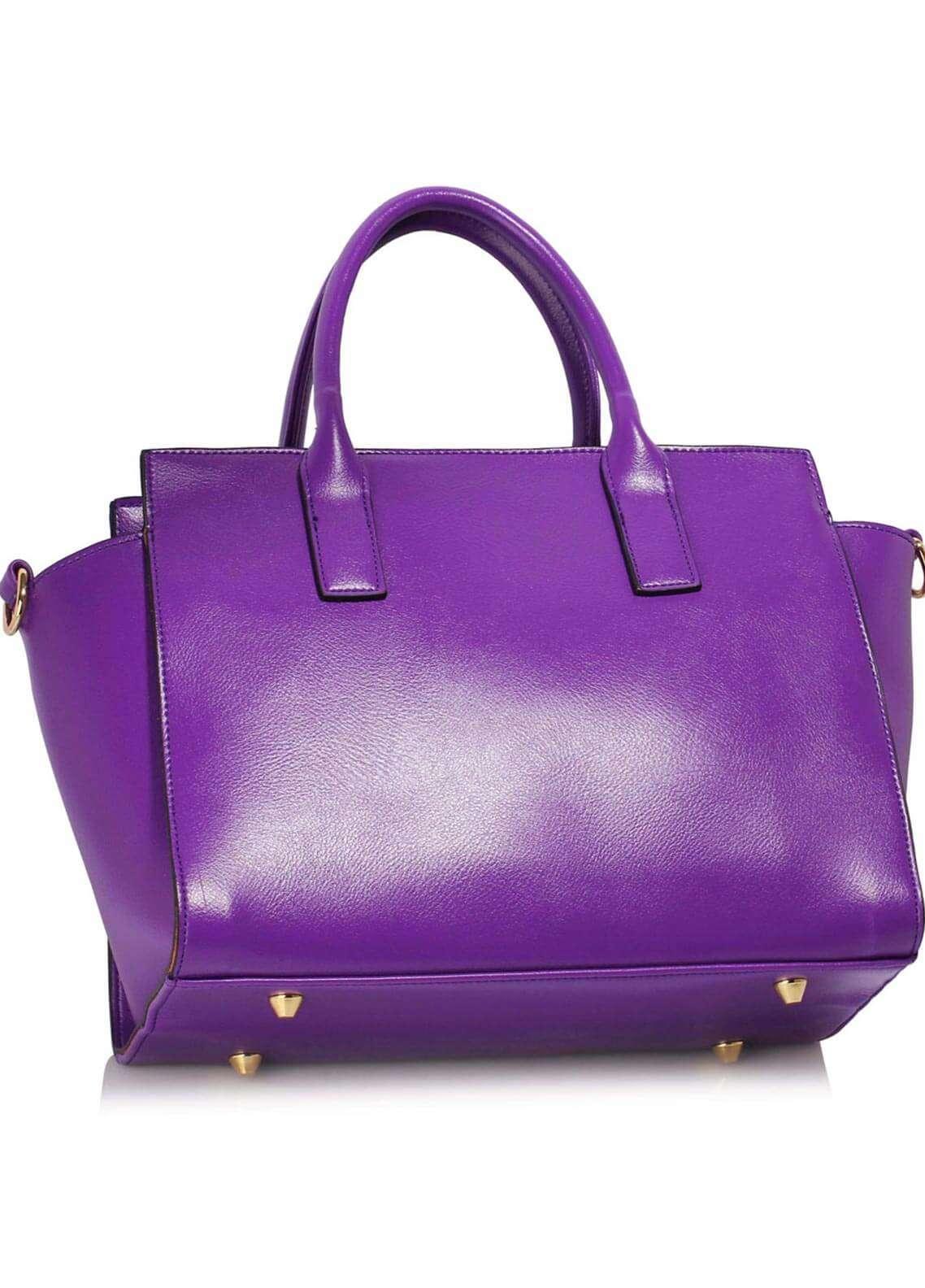 Leesun London  Faux Leather Shoulder  Bags for Woman - Purple