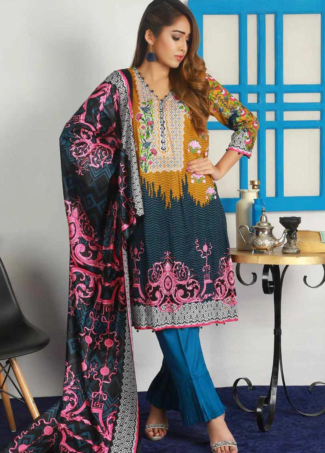 Libas by Shariq Textiles Embroidered Lawn Unstitched 3 Piece Suit LB19-L3 03A - Mid Summer Collection