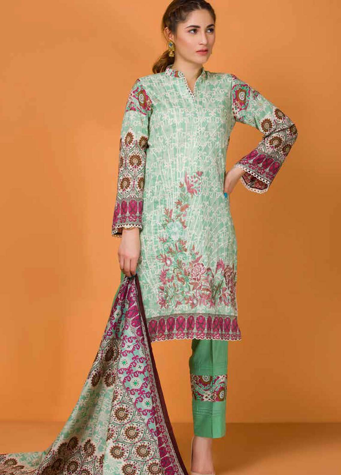 Libas by Shariq Textiles Embroidered Lawn Unstitched 3 Piece Suit LB19-L3 04A - Mid Summer Collection