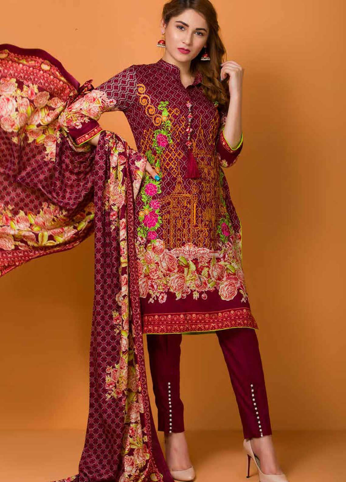 Libas by Shariq Textiles Embroidered Lawn Unstitched 3 Piece Suit LB19-L3 05B - Mid Summer Collection
