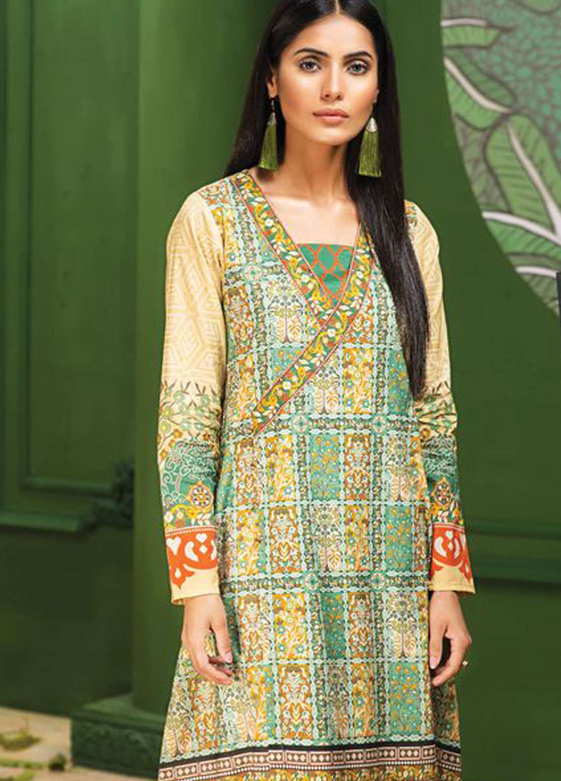 LimeLight Printed Lawn Unstitched Kurties LL19L U0722 Zinc Ethnic Vessel - Spring / Summer Collection