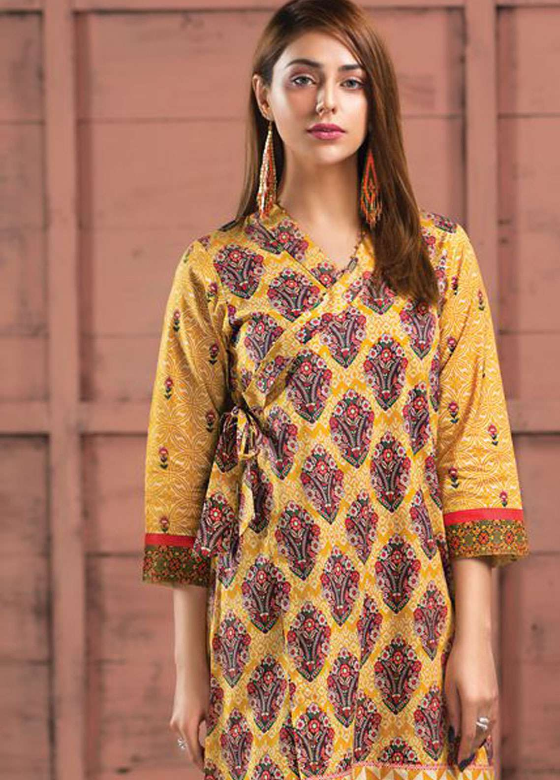LimeLight Printed Lawn Unstitched Kurties LL19L U0731 Yellow Bloomin Dales - Spring / Summer Collection