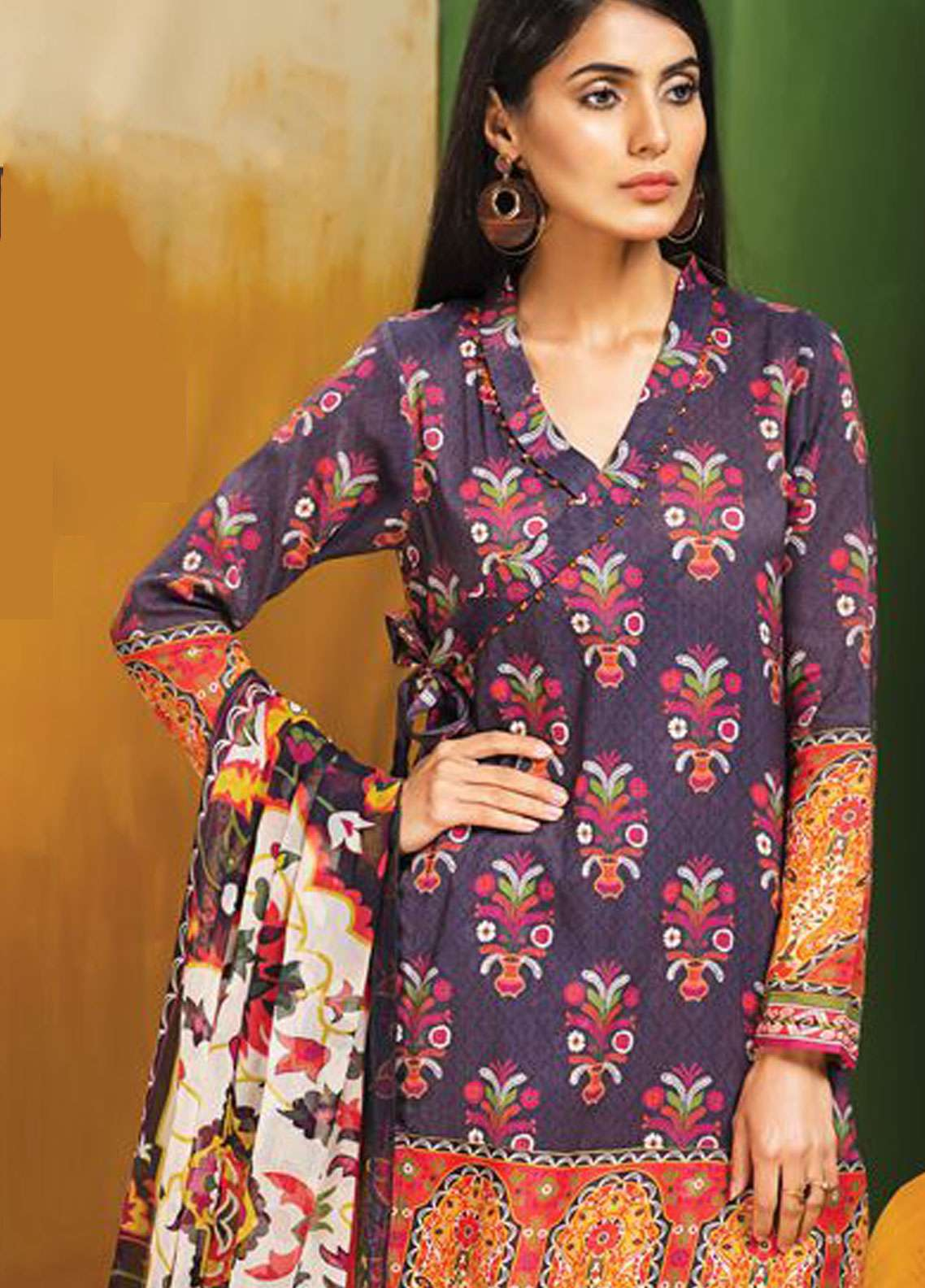 LimeLight Printed Lawn Unstitched 2 Piece Suit LL19L U0738 Blue Gardenia - Spring / Summer Collection