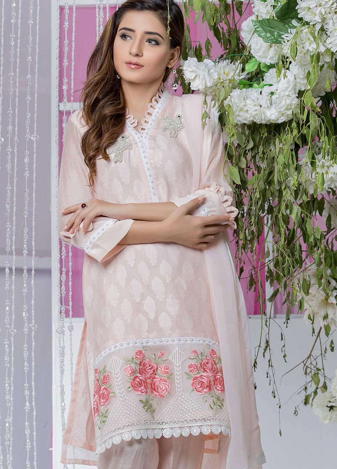 Chic Ophicial Embroidered  Stitched 3 Piece Suit LOOP LOVE