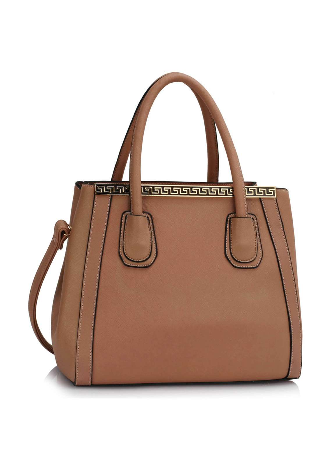 Fashion Only Faux Leather Tote  Bags for Women Nude