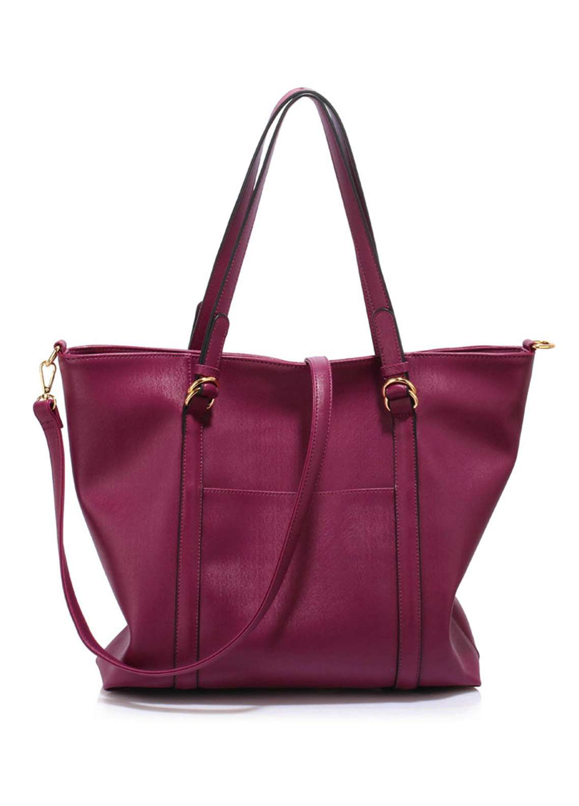 Leesun London Faux Leather Shoulder Bags for Women Burgundy