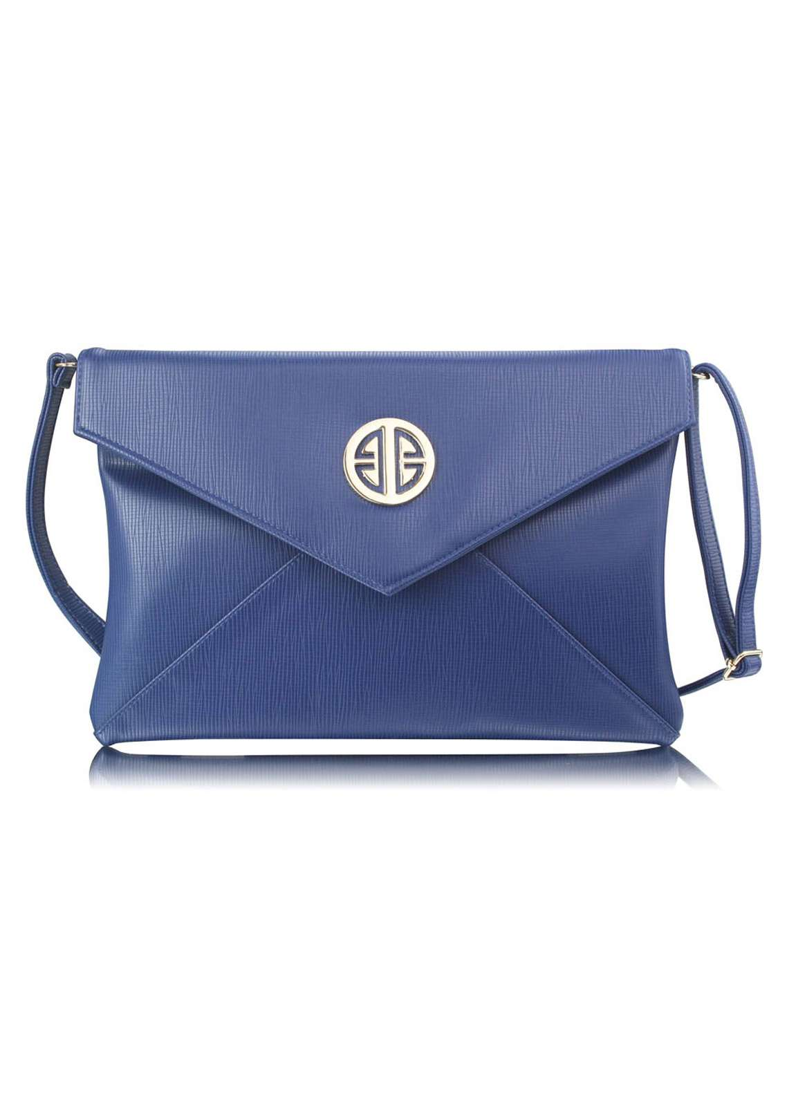 Fashion Only Satin Clutch Bags for Women Navy