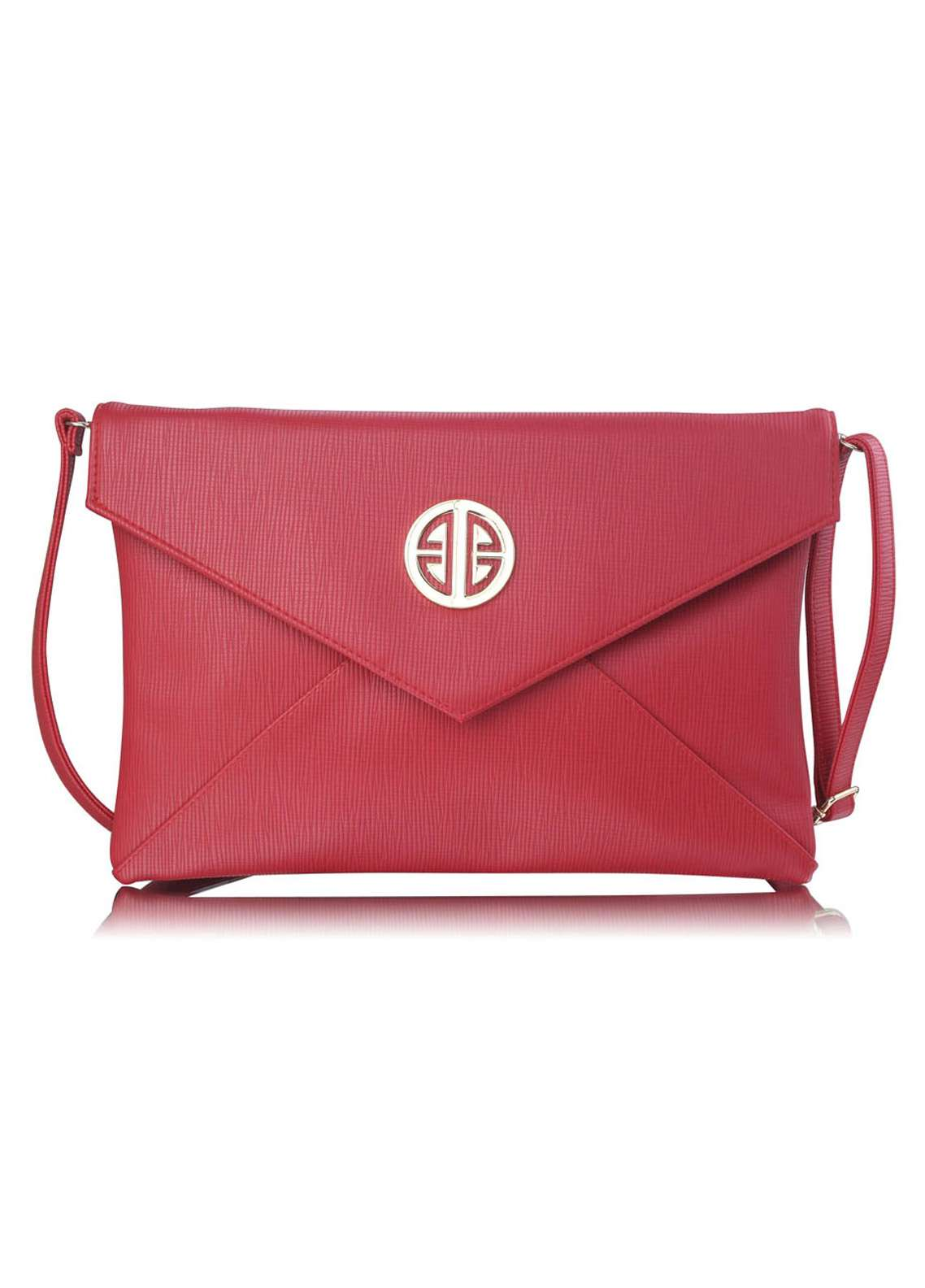 Fashion Only Satin Clutch Bags for Women Red