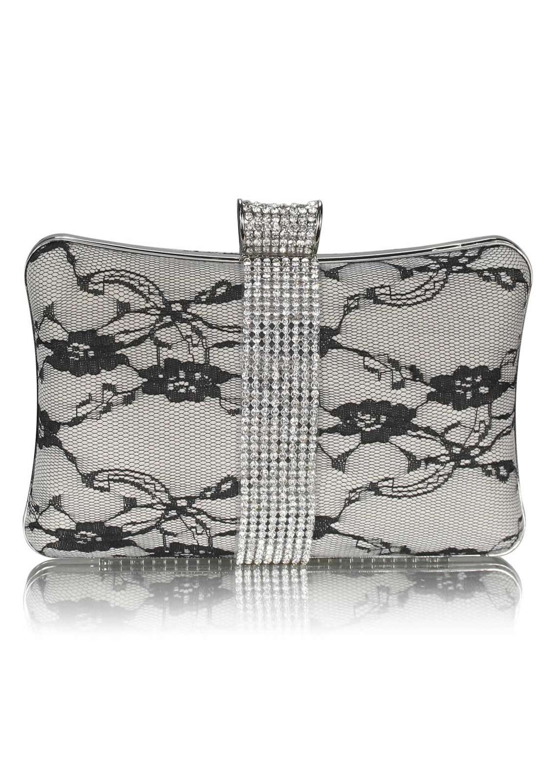 Fashion Only Satin Clutch Bags for Women Ivory