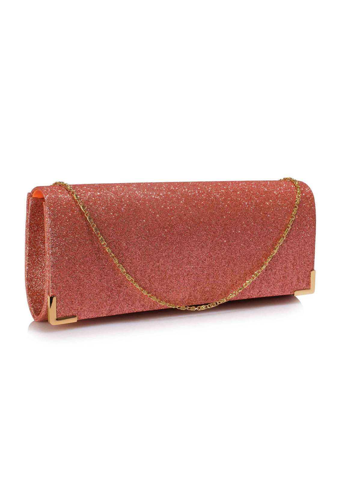 Fashion Only Satin Clutch Bags for Women Champagne