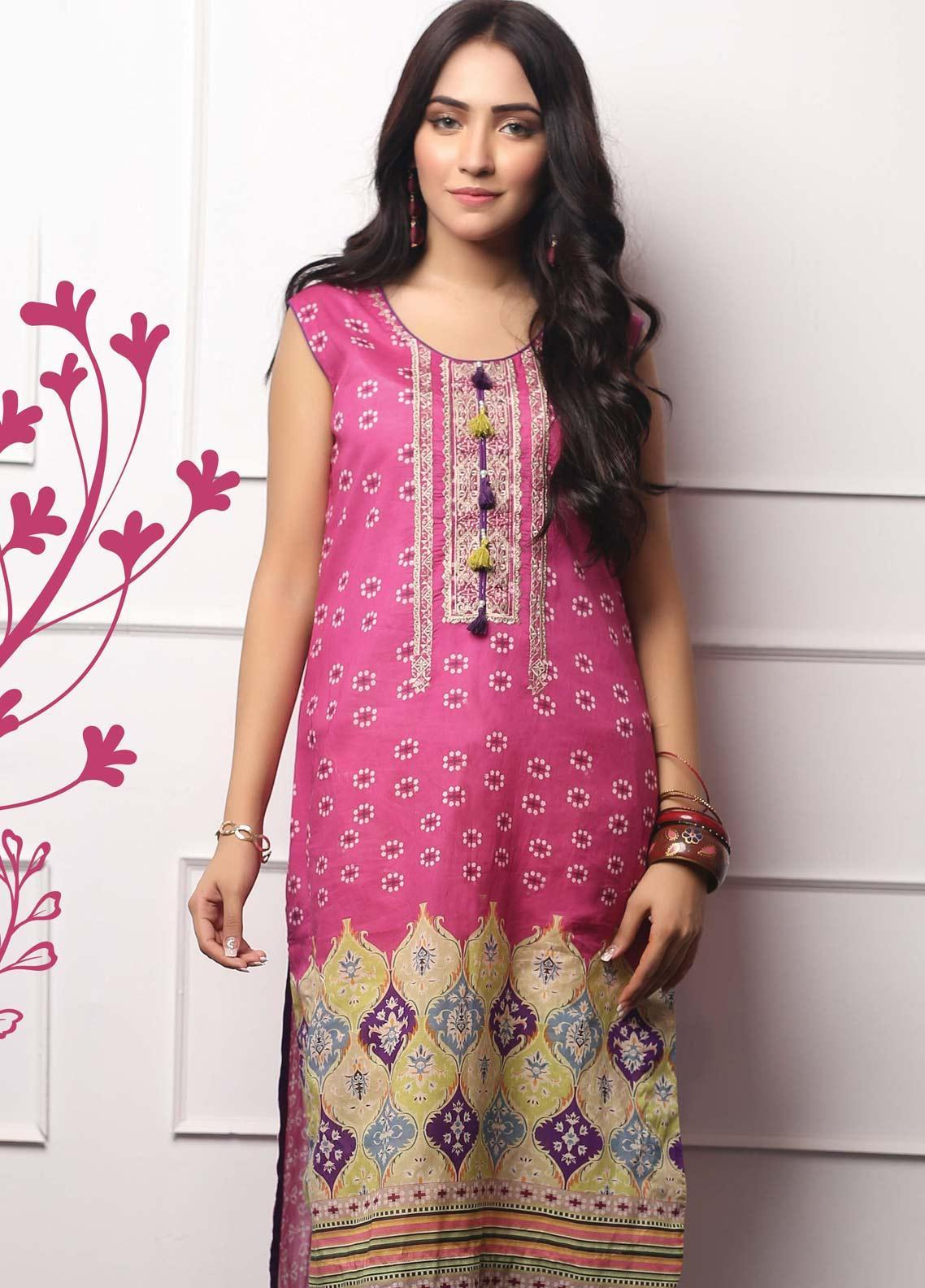 Lakhany Embroidered Lawn Unstitched Kurties LSM19EKT 1003 - Mid Summer Collection