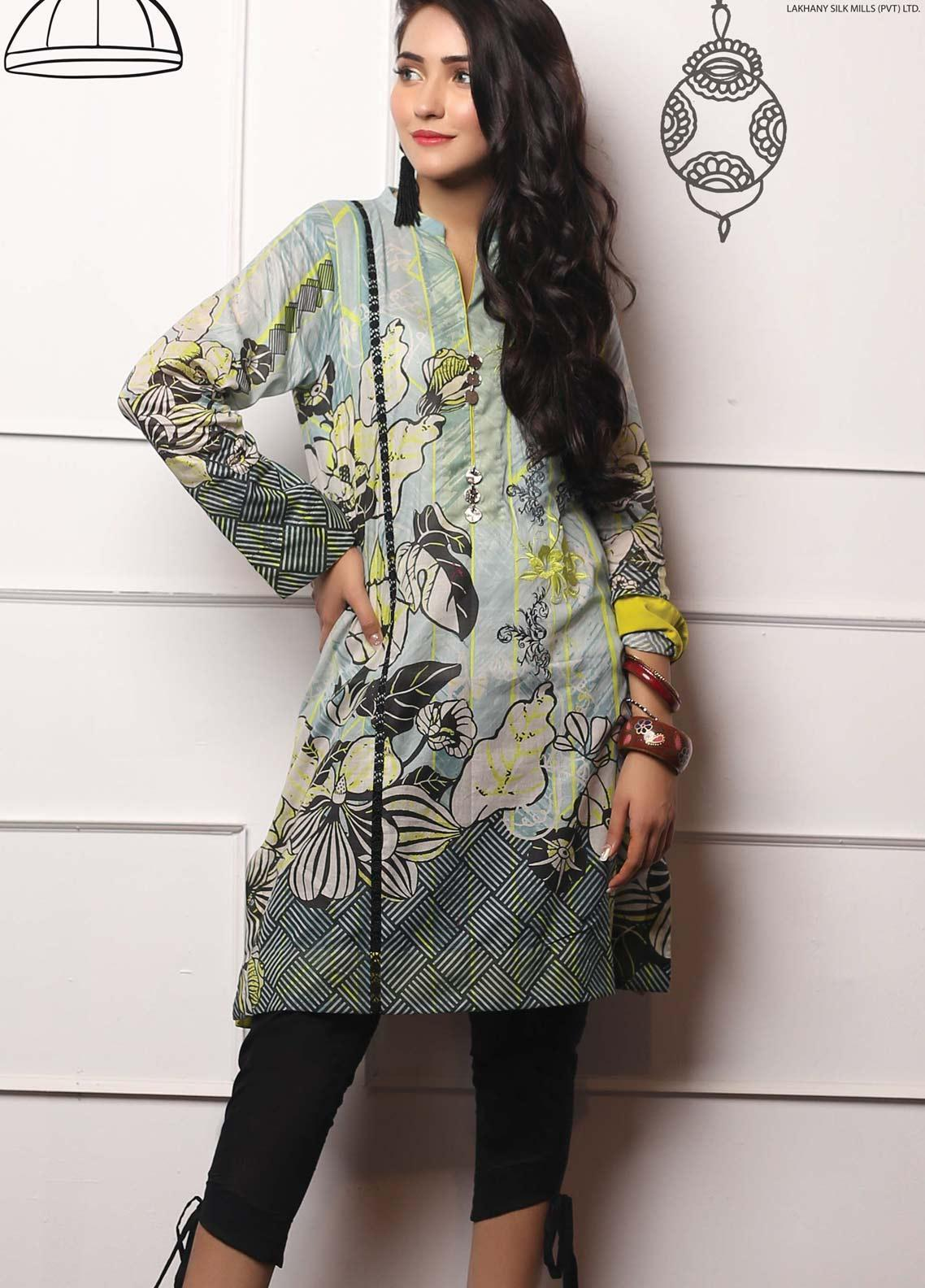 Lakhany Embroidered Lawn Unstitched Kurties LSM19EKT 1006 - Mid Summer Collection