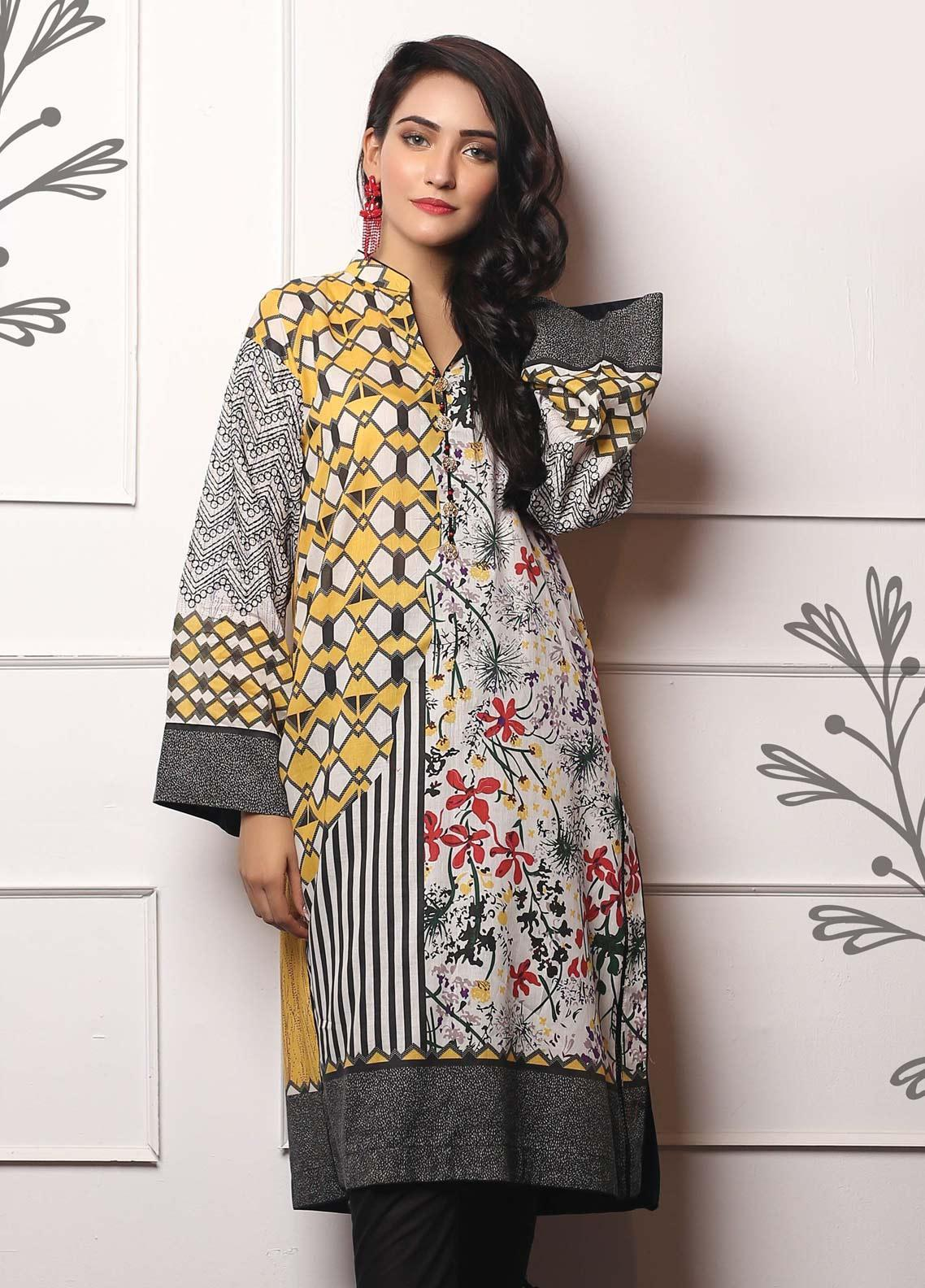 02a6e3ec40 Lakhany Embroidered Lawn Unstitched Kurties LSM19EKT 1007 - Mid Summer  Collection
