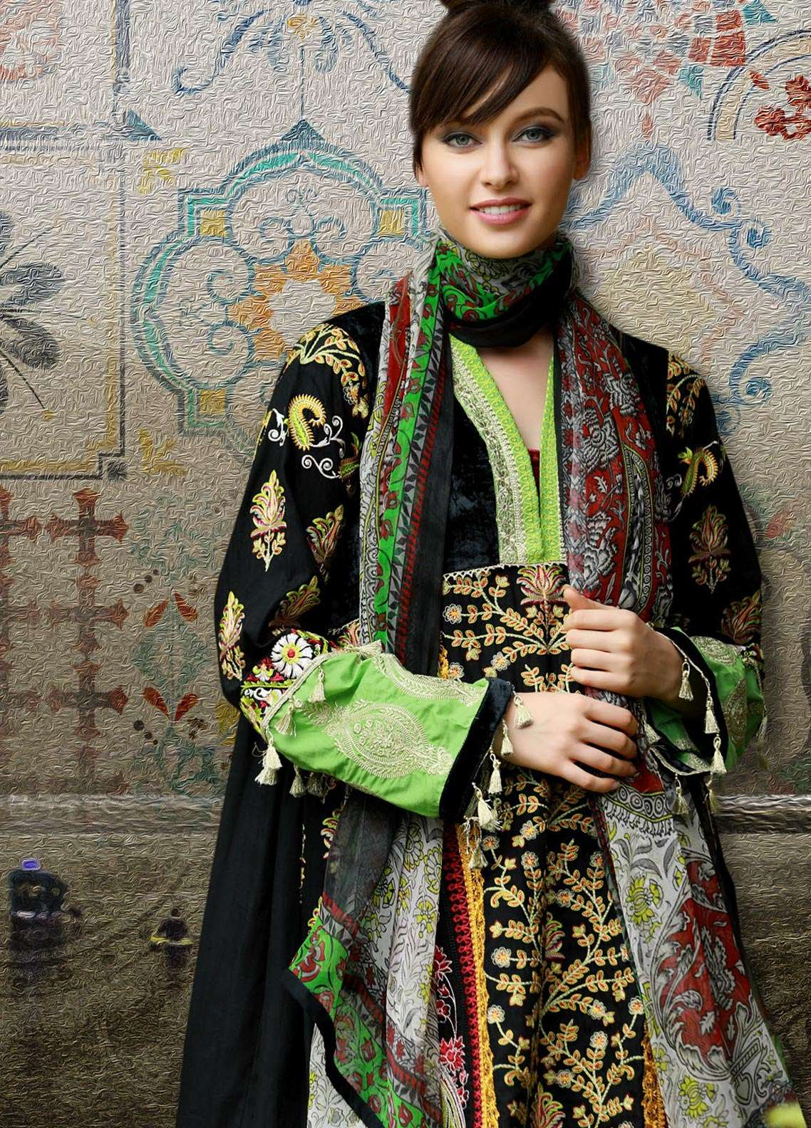 Lakhany Embroidered Pashmina Unstitched 3 Piece Suit LSM18KK 222 - Exclusive Winter Range